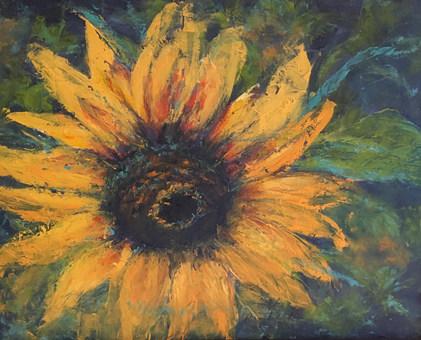 Father John's Sunflower by Brenda Hofbauer
