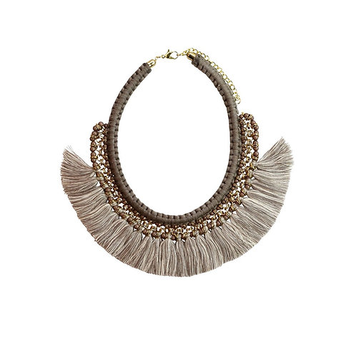 vc201-br - gypsy necklace - brown