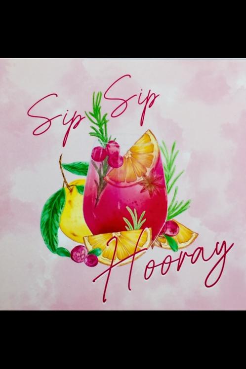 The Wonder  Bee - Card - Sip Sip Hooray