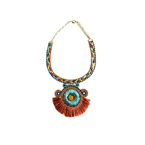 tacy necklace - brown