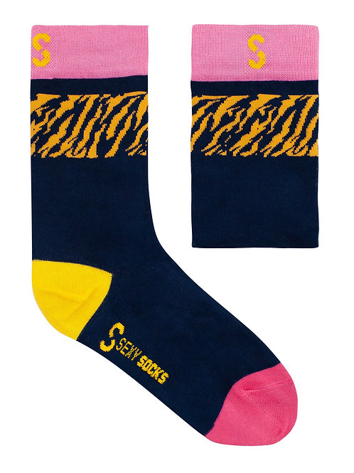 Bamboo Sock - Electric Tiger
