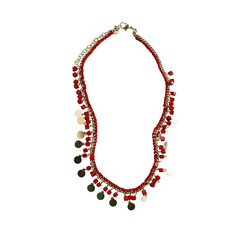 pazi necklace - red