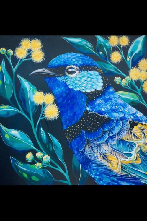 The Wonder Bee - Card - Blue Bird