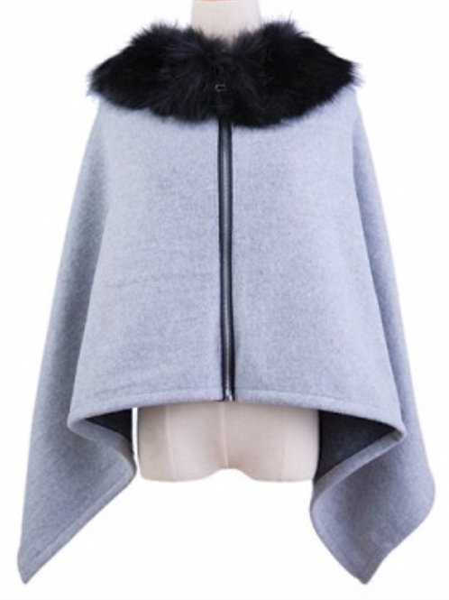 AVORIAZ Grey Cape