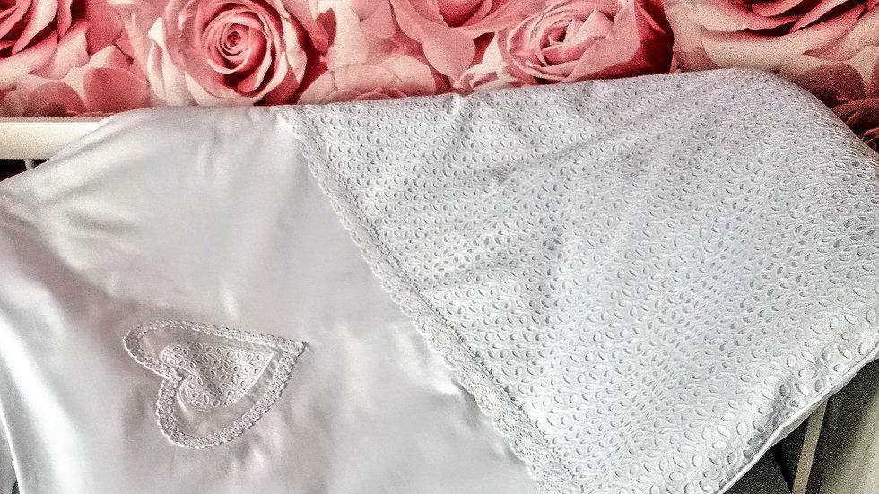 biała pościel ażur bawełna