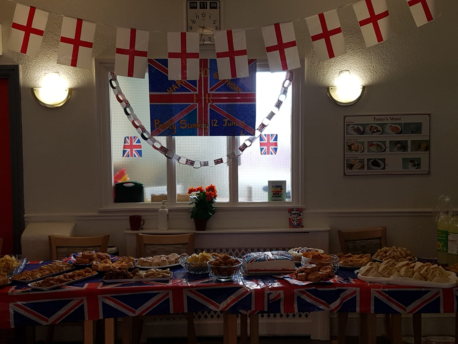 A residents 90th birthday party