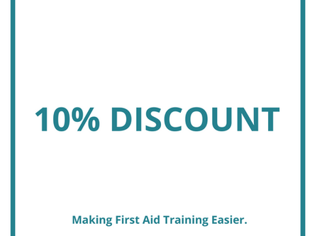 10% of ALL First Aid Courses During August and September.