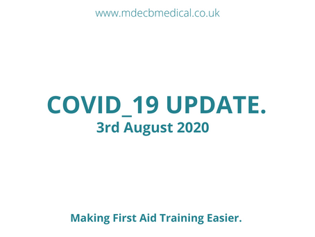 Covid_19 Update. 3rd August 2020.