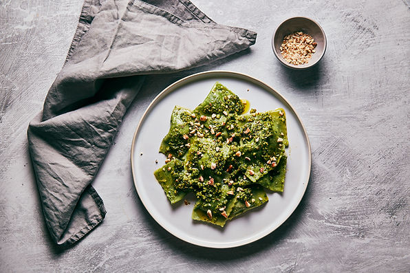 Ravioli Organic Smoked Tofu and Spinach