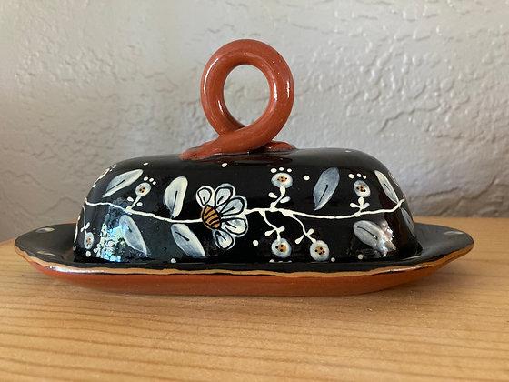 Butter Dish Flora