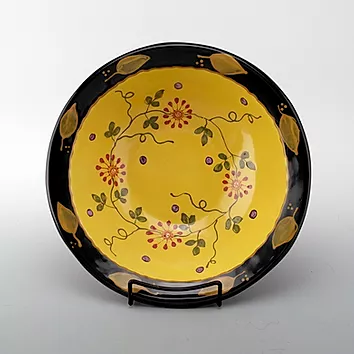 Pottery Serving/Pasta Bowl  Zinnia