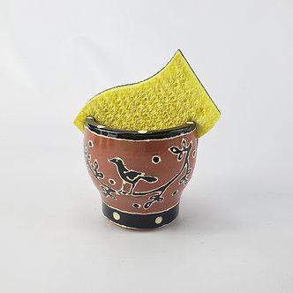 Black Bird Sponge dish