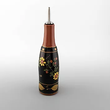 Pottery Oil Bottle  Romany