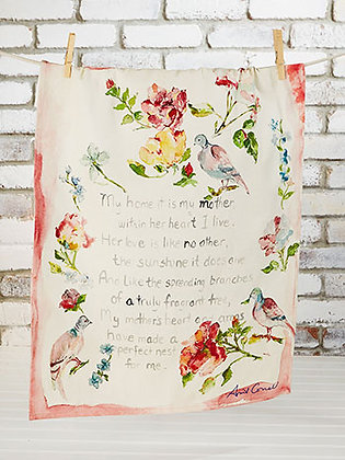 Mothers Poem tea towel