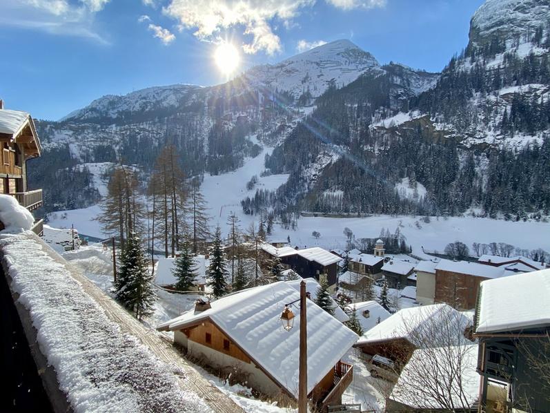 Vue village et pistes depuis la terrasse