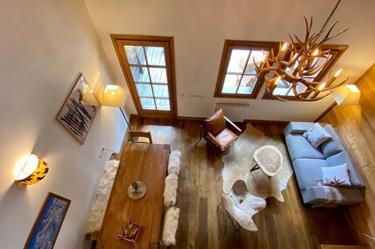Salon vu de l'étage
