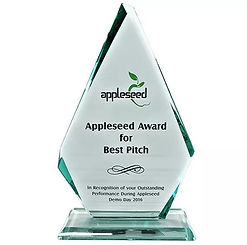 The Appleseed Award for Best Pitchis for entrepreneurs to validate their ideas, have the opportunity to network with potential investors and industry experts on the Demo Day.