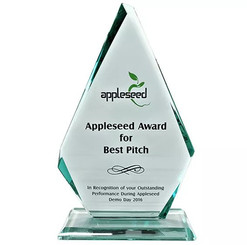 The Appleseed Award for Best Pitch is for entrepreneurs to validate their ideas, have the opportunity to network with potential investors and industry experts on the Demo Day.
