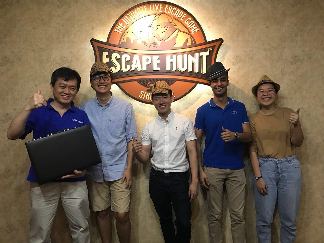 Company outing at Escape hunt