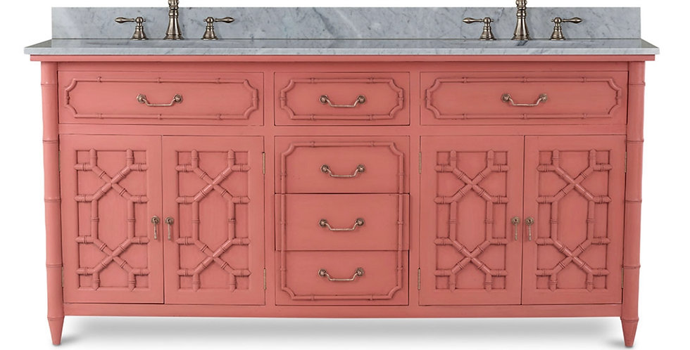 Grosvenor Double Vanity w/ Sink & Marble Top