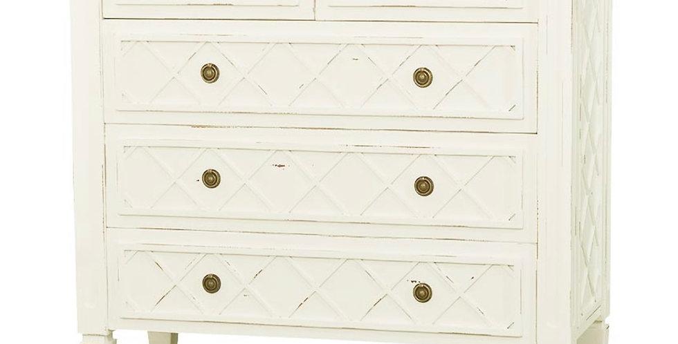 Dauphine 5 Drawer Dresser w/ Flat Front