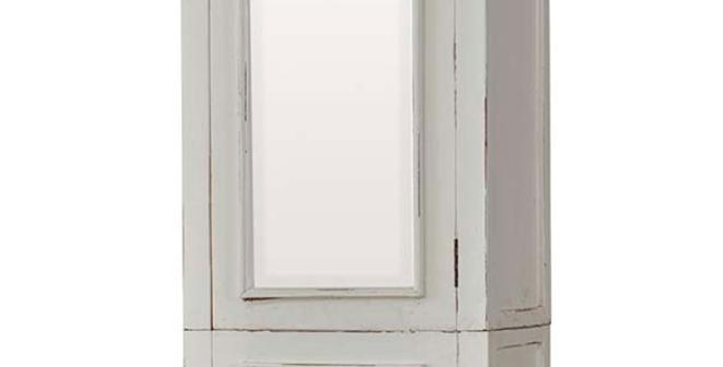 Shutter Tall Bath Cabinet w/ Mirror