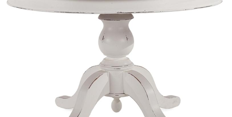 Farmhouse Round Pedestal Table 60''