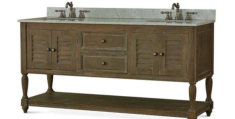 Cottage Master Vanity w/ Sink & Marble Top