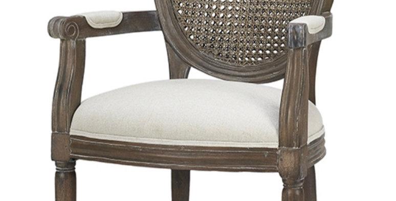 Tulip Rattan Back Dining Arm Chair w/o Fluted Leg