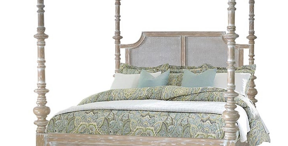 Savannah Rattan Queen Bed