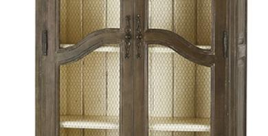 Chateau Linen Cupboard w/ Chicken Wire