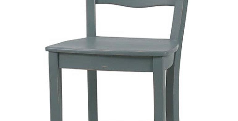 Peg & Dowel Ladder Back Counter Stool w/ Wooden Seat