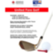 United Fore Golf Poster