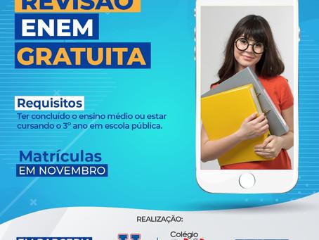 Unopar e o Colégio Elit lança intensivo gratuito Enem para alunos de escola pública