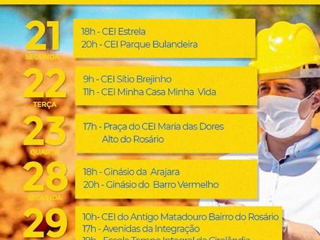 Prefeito Argemiro encerra seu mandato com maratona de inaugurações e sinaliza campanha para 2022