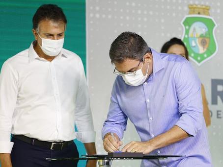 Deputado Rafael Branco participa da Assinatura da Ordens de Servico da Praça Mais Infância