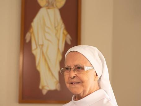 Quadro atualizado da Ir. Rosa (Maria Aleuda de Lira) neste Domingo de Ramos