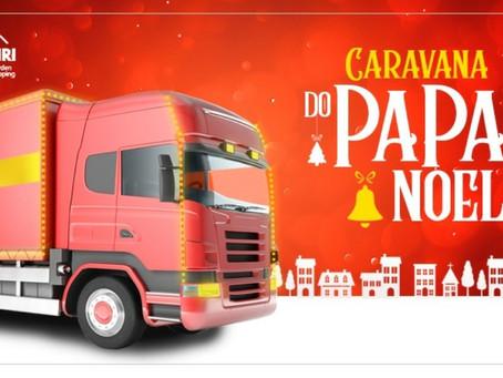 A chegada do Papai Noel no Cariri Garden será de forma itinerante no triângulo Crajubar