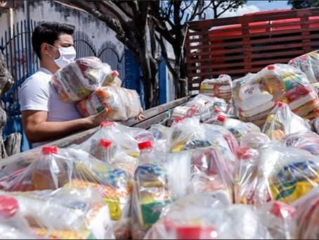 Yury do Paredão encabeça Campanha Juazeiro Solidário e distribui 500 cestas básica