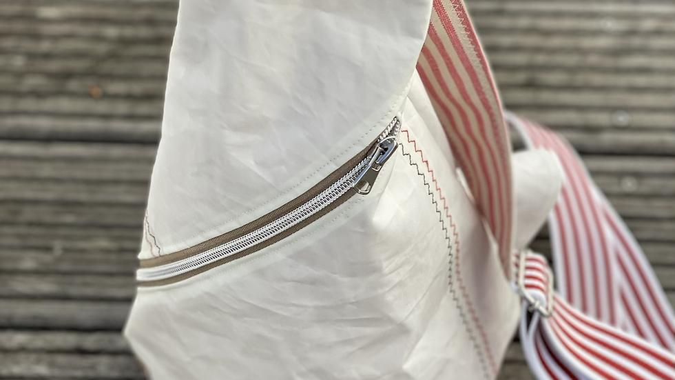 "Crossbag "" Sanddüne V"" rot/weiß /beige"