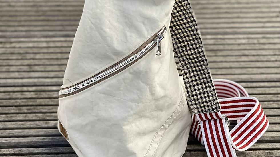 """Crossbag """"Sanddüne III, rot/weiß /schwarz /beige"""