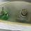 "Thumbnail: Kulturtasche ""Wasserturm IV"" grün/beige /gelb"