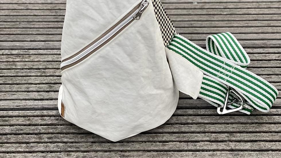 """Crossbag """"Sanddüne II"""" grün/weiß/schwarz/beige"""