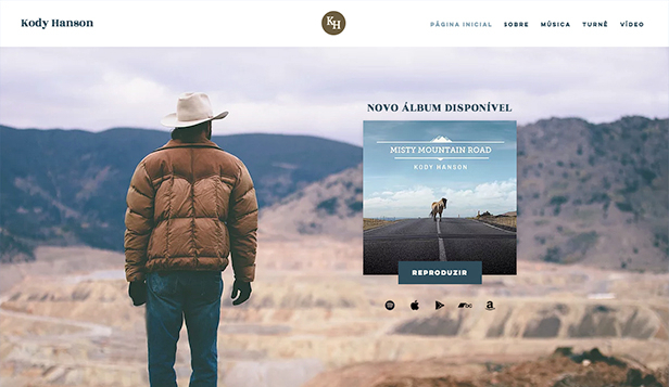 Música website templates – Cantor Country