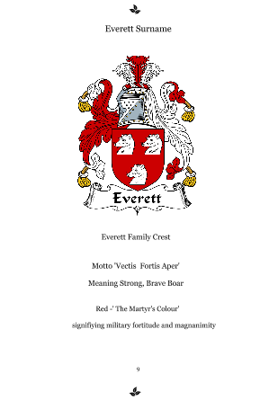 Family Crest Page
