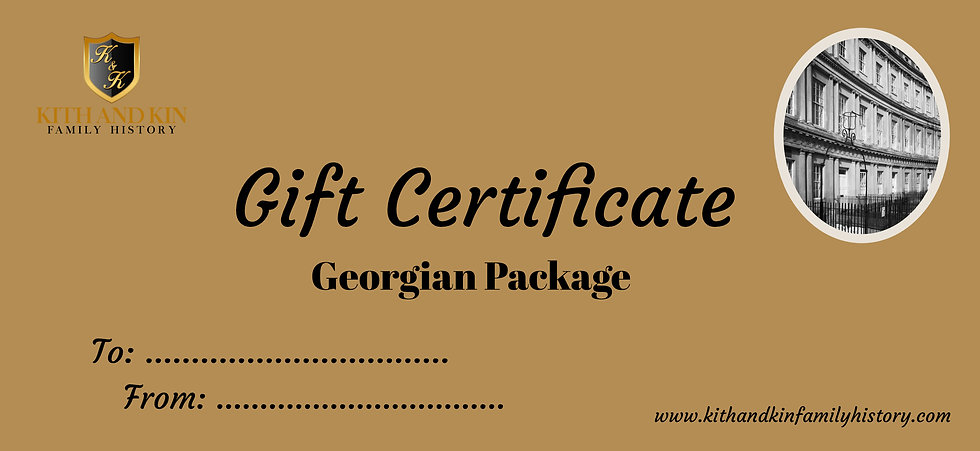 Gift Certificate for Georgian Package (Four Family Lines)
