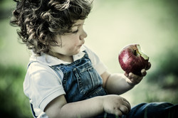 child and apple-195