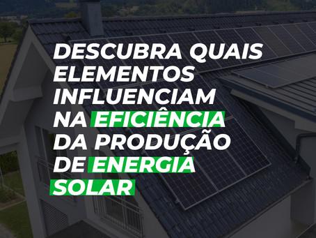 Saiba quais elementos influenciam na eficiência energética da energia solar