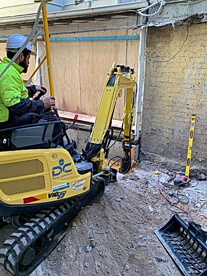 DC Demo Solutions' piling work in progress at one of ourSydney's inner eastern suburb civil demolition project.
