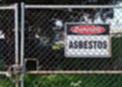 DC Demo Solutions Asbestos Removal sign